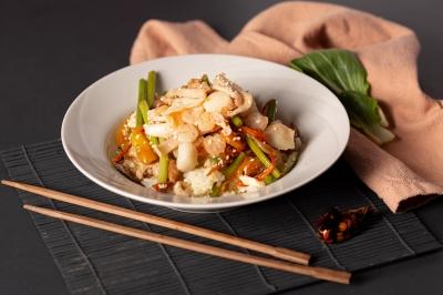 Рис с морепродуктам