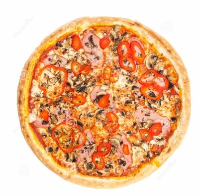 Пицца ветчина овощи